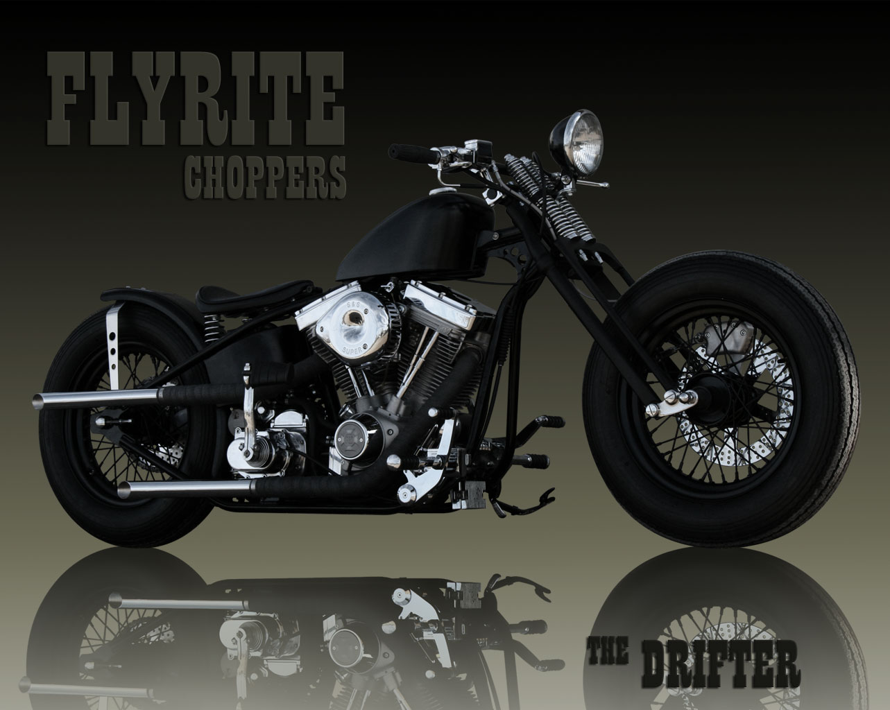 Flyrite Choppers • Old School Bobbers And FRC Wallpaper